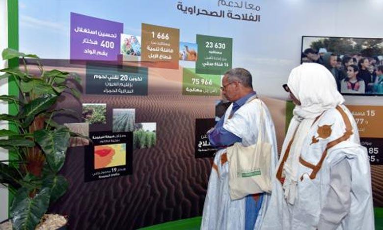 La «Caravane agricole Phosboucraâ» s'adresse aux petits éleveurs et agriculteurs des régions traversées afin de leur apporter l'expérience et le savoir-faire en matière de conduite de l'élevage camelin et de valorisation des produits du dromadaire. Ph : DR