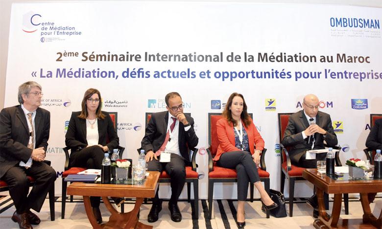 Le séminaire de la CFCIM sur la médiation a fait salle comble hier à Casablanca.Ph. Seddik