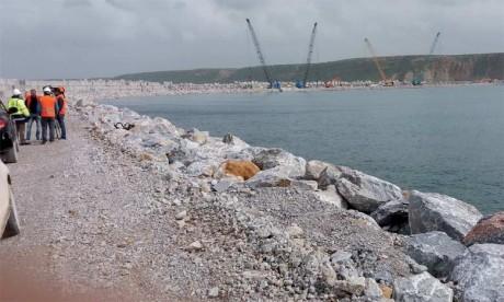 Le taux d'avancement des travaux du nouveau port a dépassé 85%