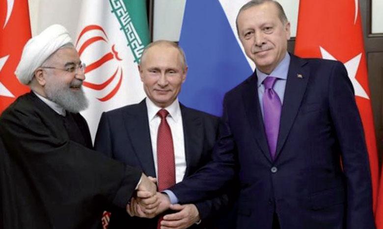 Erdogan a accueilli Poutine et Rohani  pour un sommet à l'issue incertaine