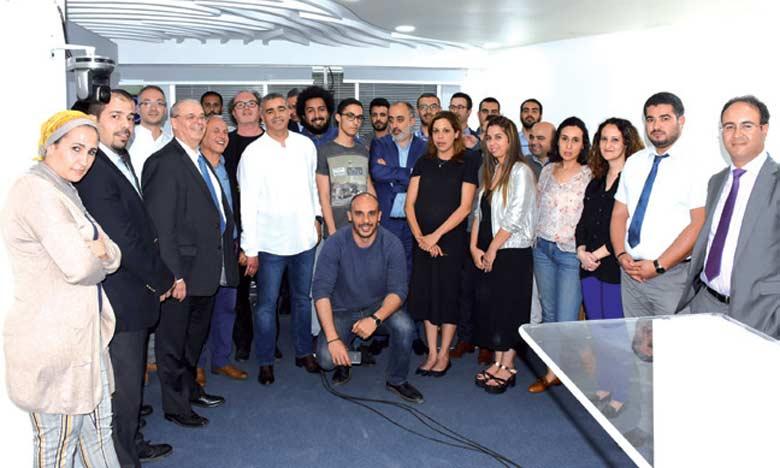 Le PDG du Groupe Le Matin, Mohammed Haitami, procédant lundi au lancement officiel de «Matin Première». Ph. Saouri