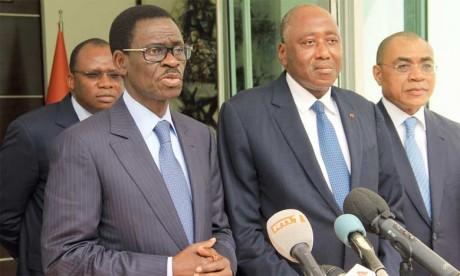 Christian Adovelande (à gauche) a indiqué que la BOAD, qu'il préside, occupe un siège d'observateur à la Convention-cadre des Nations unies sur les changements climatiques depuis 2009.