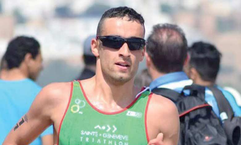 Badr Siwane sur  la ligne de départ  de l'étape italienne du Championnat du monde
