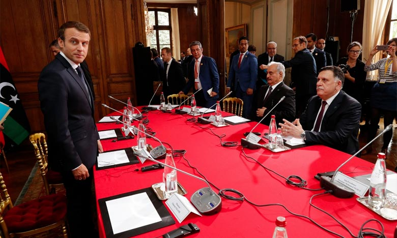 Le Président Macron réunit à Paris les principaux responsables libyens