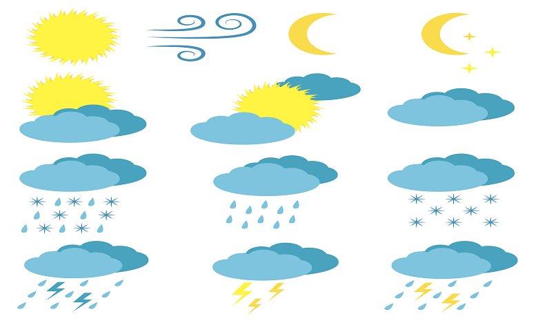Prévisions météorologiques pour la journée du lundi