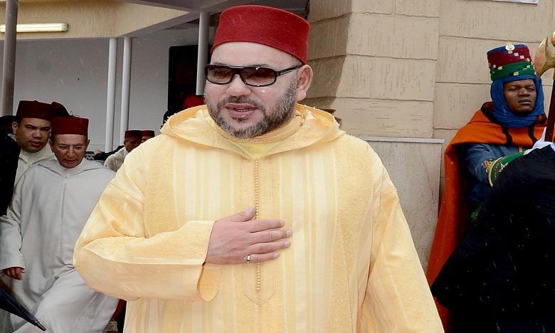 S.M. le Roi, Amir Al Mouminine, accomplit la prière du Vendredi  à la mosquée «la Palestine»
