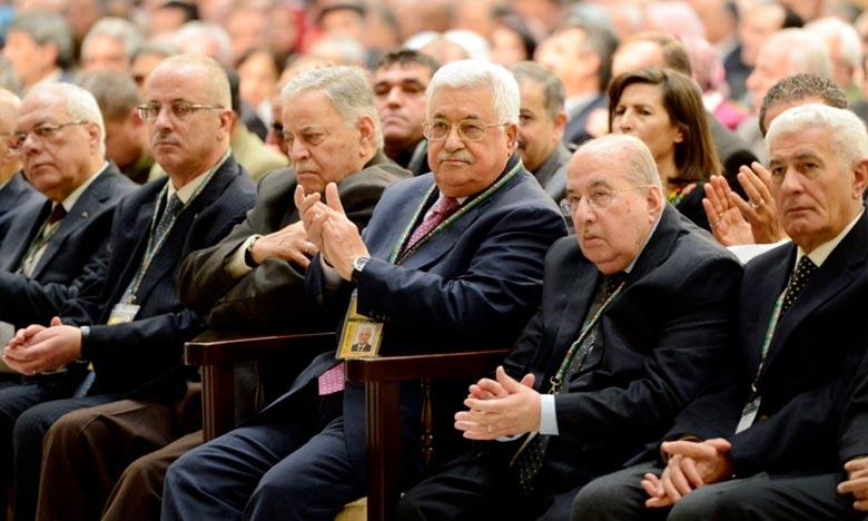 Dès l'ouverture, les membres du Congrès ont voté pour reconduire Mahmoud Abbas à la tête du Fatah, de l'Autorité palestinienne et de l'OLP.  Ph : DR
