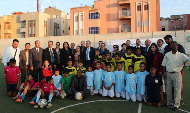 L'INDH a contribué à l'encadrement et à la promotion des activités sportives, sociales et culturelles. Ph. MAP