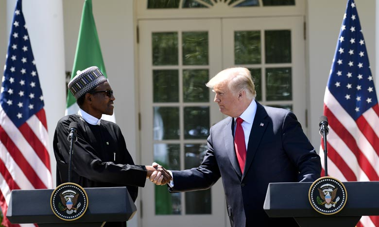 Trump veut le soutien du Nigeria et de l'Afrique
