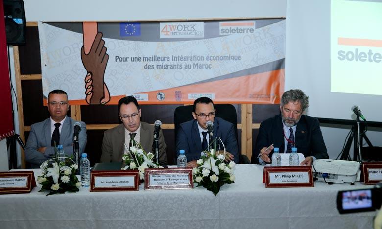 Suite à l'appel de Rabat, les migrants pourront présenter leurs candidatures et participer à un processus de sélection avant le lancement de leur activité entrepreneuriale. Ph : MAP