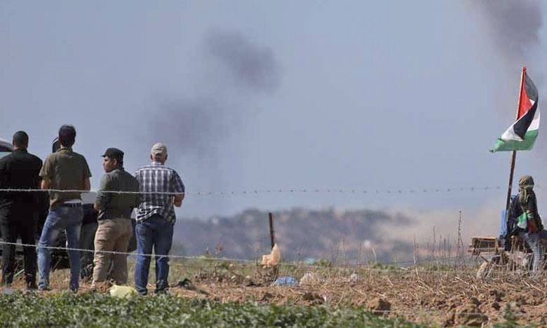 Mardi soir, l'aviation israélienne avait frappé 55 cibles appartenant aux groupes armés à Gaza, y compris un tunnel transfrontalier en construction.               Ph. AFP