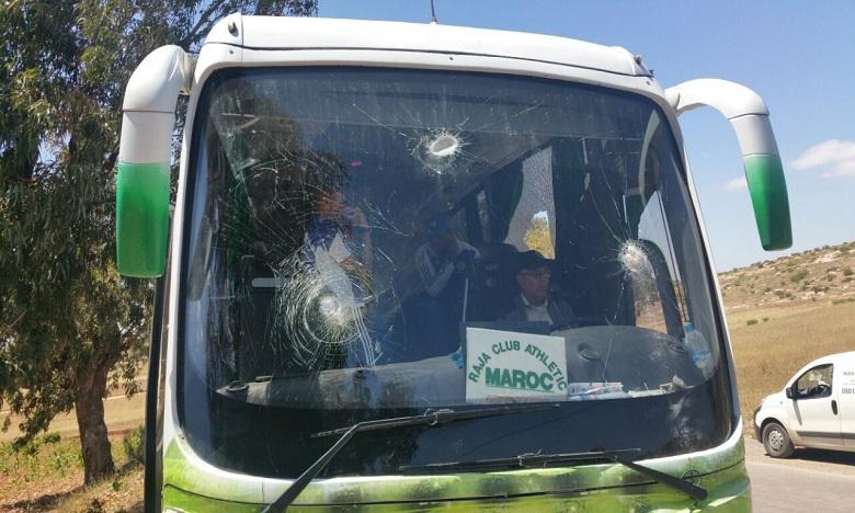Le bus du Raja attaqué, plusieurs joueurs blessés