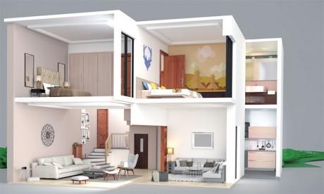 Le concept de duplex sera intégré dans des résidences fermées autour de jardins privatifs avec un accès surveillé.