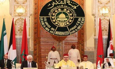 Message de S.M. le Roi au Président palestinien suite au transfert de l'ambassade américaine à Al-Qods