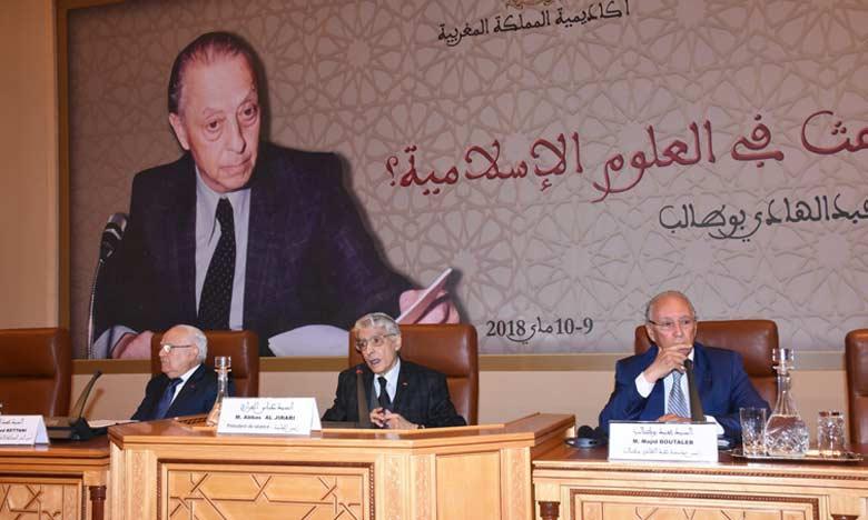 La conférence se veut aussi un hommage au travail de l'intellectuel Abdelhadi Boutaleb.