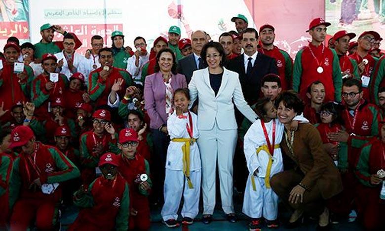 Lalla Soumaya El Ouazzani a présidé, à Ifrane, la cérémonie de clôture de la 10e édition des Jeux nationaux. Ph : MAP