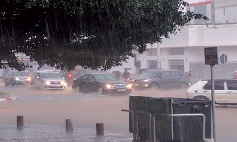 Fortes averses orageuses prévues ces mercredi et jeudi, dans plusieurs provinces du Royaume