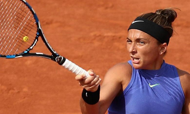 Élise Mertens et Sara Errani en quart de finale