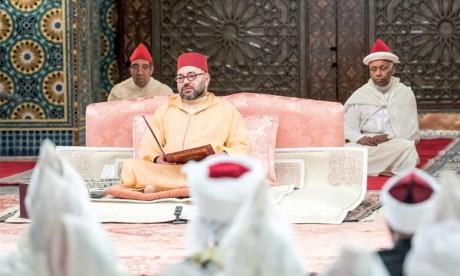 S.M. le Roi, Amir Al Mouminine, préside mardi à Rabat la deuxième causerie religieuse du mois sacré de Ramadan