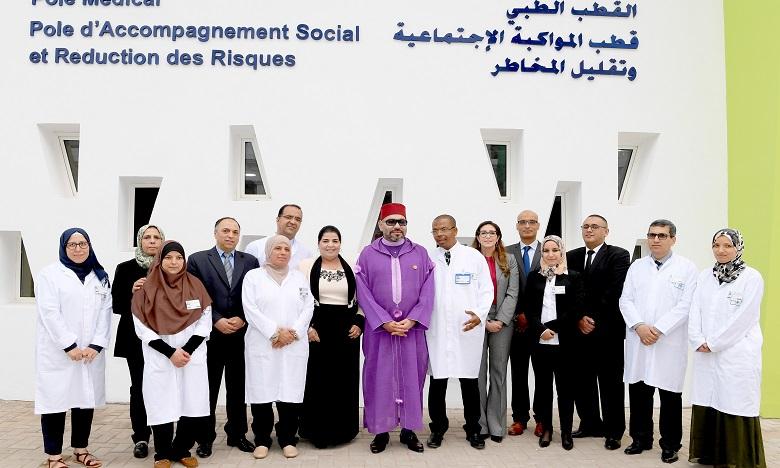 Sa Majesté le Roi Mohammed VI inaugure un Centre d'addictologie au quartier Sidi Moumen à Casablanca