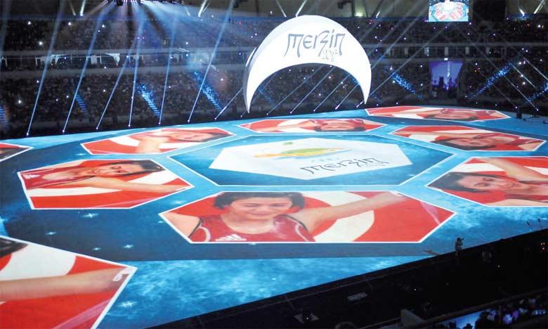 Ouverture de la 17e édition des Jeux de la Méditerranée en Turquie en 2013.
