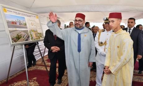 S.M. le Roi lance les travaux de construction d'un Centre social pour l'accueil des personnes âgées à Mediouna