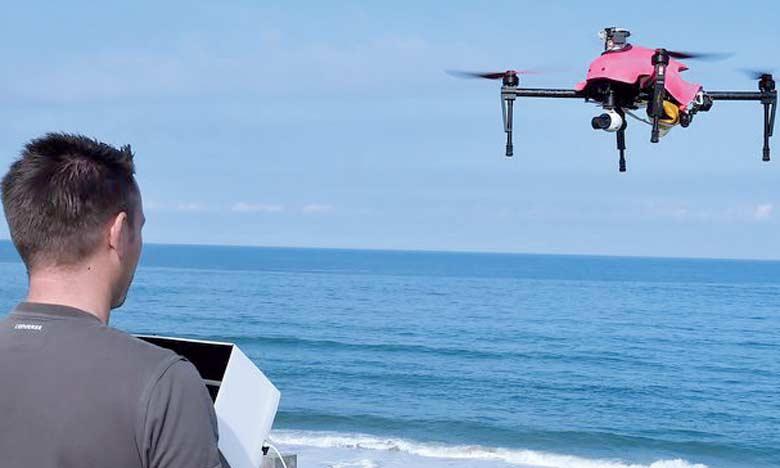 Des drones et des capteurs Wi-Fi  pour mesurer la fréquentation  des plages dans l'Aquitaine