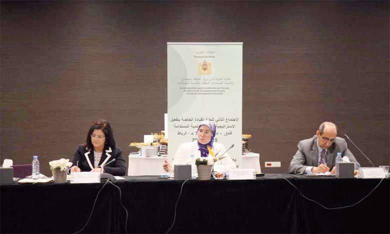 Nezha El Ouafi (au centre), secrétaire d'État au Développement durable, a indiqué que les résultats de ces réunions seront partagés avec toutes les parties prenantes à l'occasion de la tenue de la prochaine session du Conseil national de l'environnement.  Ph. DR