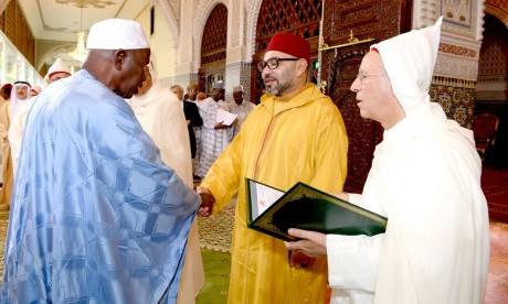 S.M. le Roi, Amir Al Mouminine, préside au Palais Royal de Rabat la deuxième causerie religieuse du mois sacré de Ramadan