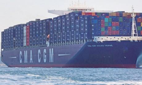 Le spécialiste mondial du transport maritime a enregistré un chiffre d'affaires de 5,41 milliards de dollars, en hausse de 17,1%.