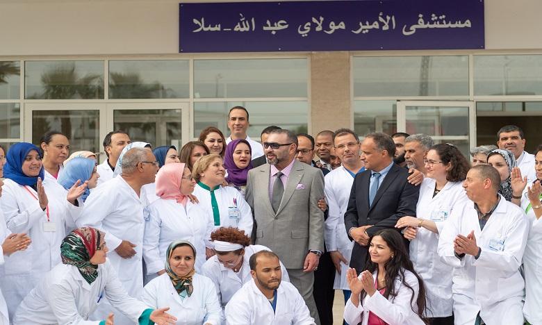 S.M. le Roi inaugure l'hôpital préfectoral «Prince Moulay Abdallah» à Salé, d'une capacité d'accueil de 250 lits