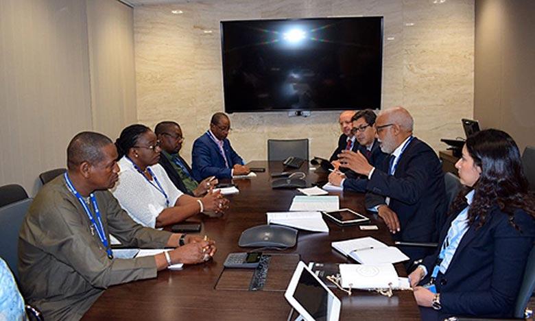Yatim s'entretient à Genève avec le directeur général de l'OIT