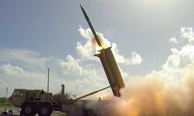 Interception d'un missile tiré depuis  le Yémen