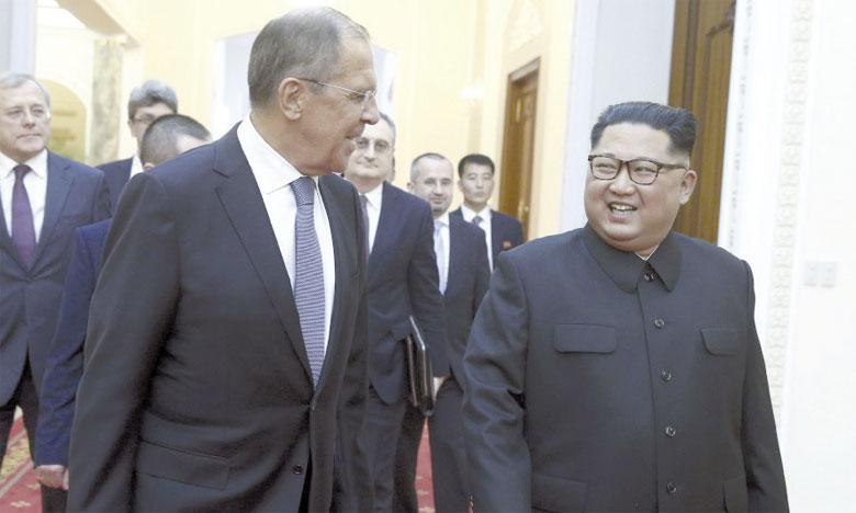 Sergueï Lavrov, le ministre russe des Affaires étrangères, a été reçu hier pour la première fois à Pyongyang par le Président de la Corée du Nord, Kim Jong-un.                                                                                                                           Ph. DR