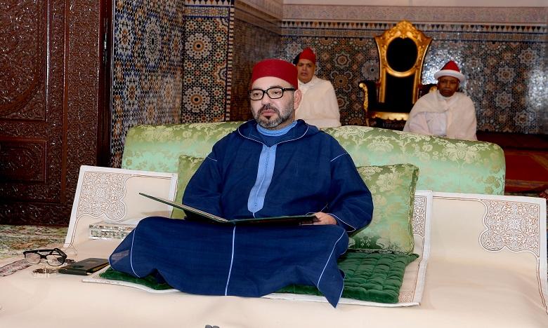 Sa Majesté le Roi Mohammed VI, Amir Al Mouminine, préside à Rabat, la première causerie religieuse du mois sacré de Ramadan