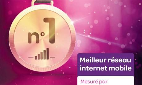 Avec un total de 47.050 points, Inwi est propulsé à la première place  au niveau national pour son réseau mobile internet.