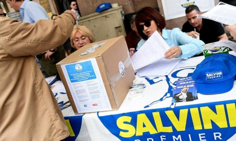 La Ligue et le Mouvement 5 étoiles doivent présenter au président, Sergio Mattarella, la composition du prochain gouvernement. Ph : AFP
