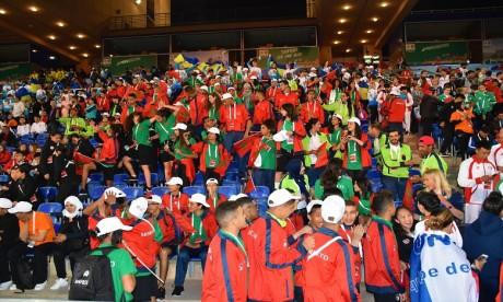 Le grand stade de Marrakech brille de mille feux pour la cérémonie d'ouverture
