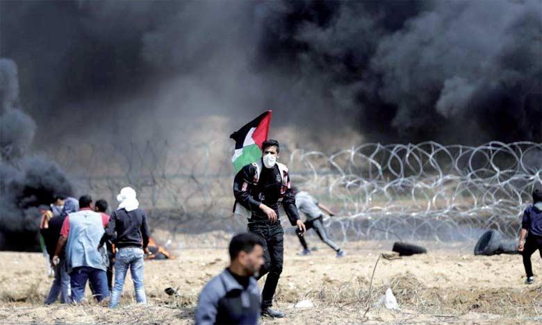 Les forces israéliennes ont tué 42 Palestiniens et en ont blessé plus de 5.000, dont 2.000 par balles, depuis que les habitants  de la Bande de Gaza ont entamé, le 30 mars, une série de manifestations.                                                                                                         Ph. AFP