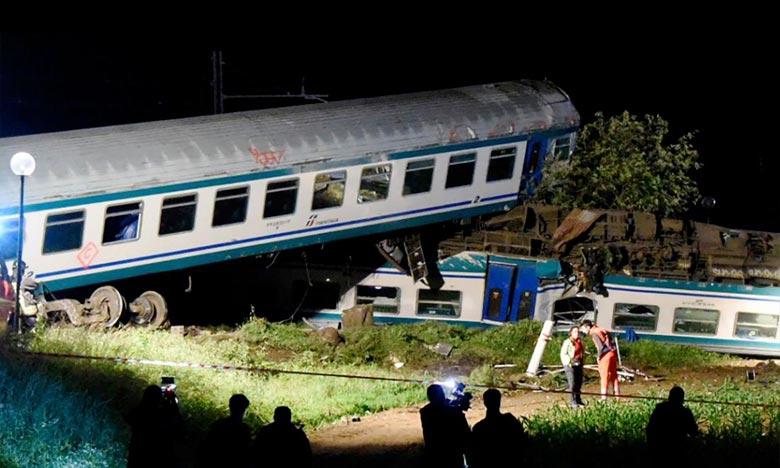 Deux personnes  tuées dans un déraillement de train en Italie