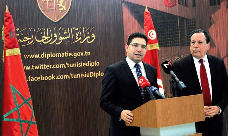 Nasser Bourita souligne à Tunis l'impératif  de développer les mécanismes de coopération entre les deux pays