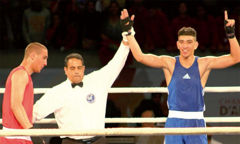 Après sa victoire par KO en demi-finale, Houssam Lfrayji est un des favoris de cette finale dans la catégorie super moyens (75kg).
