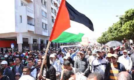 Marche nationale de solidarité avec le peuple palestinien
