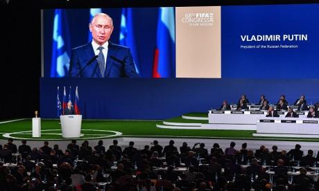 Vladimir Poutine : la Russie est prête à accueillir la Coupe du monde