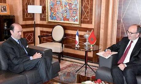 Le président de la Chambre des conseillers s'entretient avec l'ambassadeur  de France au Maroc