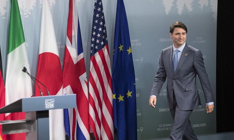 G7-Trump n'approuve pas le communiqué commun et met en cause Trudeau