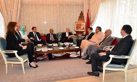 El Othmani s'entretient à Rabat avec une délégation du Parti de l'Istiqlal
