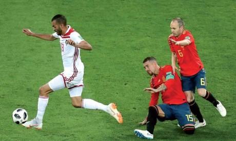Les Lions de l'Atlas accrochent l'Espagne  et quittent le Mondial sur un match nul