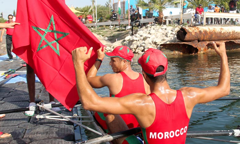 Les résultats obtenus par les rameurs marocains «à l'avenir prometteur» sont le fruit de leur entraînement intensif à la veille de la tenue de cette compétition pour s'affirmer surtout avec des équipes de grande renommée. Ph : MAP