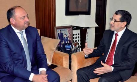 Saâd Eddine El Othmani examine avec le ministre-président wallon  les moyens de renforcer la coopération bilatérale